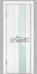 Дверь межкомнатная DO-504 Белый глубокий/стекло Белое
