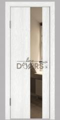 ШИ дверь DO-604 Белый глубокий/зеркало Бронза