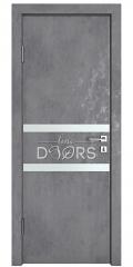 Дверь межкомнатная DO-513 Бетон темный/Снег