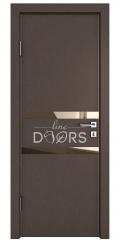Дверь межкомнатная DO-513 Бронза/зеркало Бронза