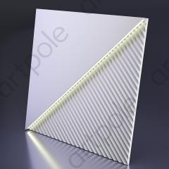 Гипсовая 3D панель FIELDS LED (тёплый свет) 600x600x33 мм