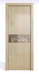 Дверь межкомнатная DO-509 Анегри светлый/зеркало Бронза