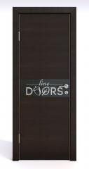 Дверь межкомнатная DO-509 Венге горизонтальный/стекло Черное