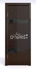 Дверь межкомнатная DO-503 Венге глянец/стекло Черное