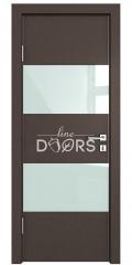 Дверь межкомнатная DO-508 Бронза/стекло Белое