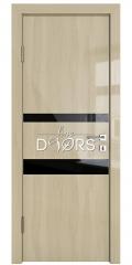 Дверь межкомнатная DO-512 Анегри светлый/стекло Черное