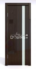 ШИ дверь DO-607 Венге глянец/стекло Белое