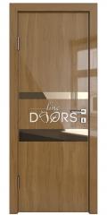 Дверь межкомнатная DO-512 Анегри темный/зеркало Бронза