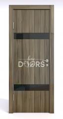 ШИ дверь DO-602 Сосна глянец/стекло Черное