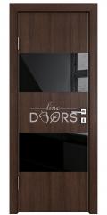 ШИ дверь DO-608 Мокко/стекло Черное