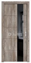 Дверь межкомнатная TL-DO-504 Кипарис/стекло Черное