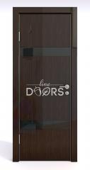 Дверь межкомнатная DO-502 Венге глянец/стекло Черное