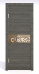 Дверь межкомнатная DO-509 Ольха темная/зеркало Бронза