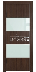 ШИ дверь DO-608 Мокко/стекло Белое