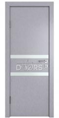 Дверь межкомнатная DO-513 Металлик/Снег