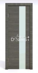 Дверь межкомнатная DO-504 Ольха темная/стекло Белое