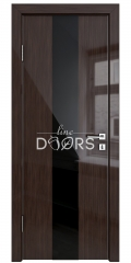Дверь межкомнатная DO-510 Венге глянец/стекло Черное