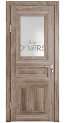 Дверь межкомнатная DO-PG4 Орех седой светлый/Ромб