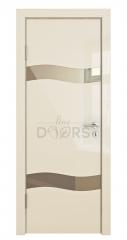 ШИ дверь DO-603 Ваниль глянец/зеркало Бронза