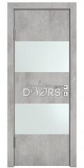 Дверь межкомнатная DO-508 Бетон светлый/Снег