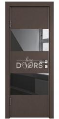 ШИ дверь DO-608 Бронза/стекло Черное
