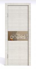 ШИ дверь DO-601 Ива светлая/зеркало Бронза