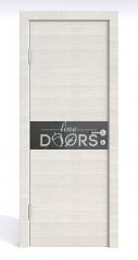 Дверь межкомнатная DO-509 Ива светлая/стекло Черное