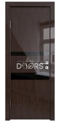 ШИ дверь DO-612 Венге глянец/стекло Черное