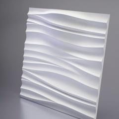 Гипсовая 3D панель SILK 2 LED (White) 600x600x89 мм