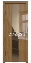 Дверь межкомнатная DO-510 Анегри темный/зеркало Бронза