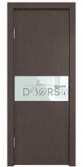 Дверь межкомнатная DO-501 Бронза/стекло Белое