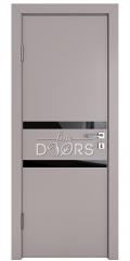 Дверь межкомнатная DO-513 Серый бархат/стекло Черное