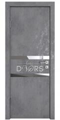 Дверь межкомнатная DO-513 Бетон темный/Зеркало