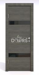 ШИ дверь DO-602 Ольха темная/стекло Черное