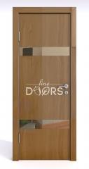 Дверь межкомнатная DO-502 Анегри темный/зеркало Бронза