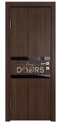 Дверь межкомнатная DO-513 Мокко/стекло Черное