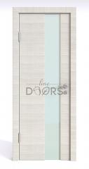 Дверь межкомнатная DO-504 Ива светлая/стекло Белое