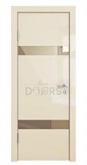 Дверь межкомнатная DO-502 Ваниль глянец/зеркало Бронза