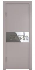 Дверь межкомнатная DO-501 Серый бархат/Зеркало