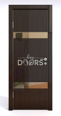 Дверь межкомнатная DO-502 Венге глянец/зеркало Бронза