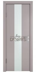 Дверь межкомнатная DO-510 Серый бархат/Снег