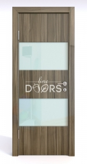 ШИ дверь DO-608 Сосна глянец/стекло Белое