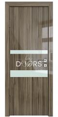 Дверь межкомнатная DO-512 Сосна глянец/стекло Белое