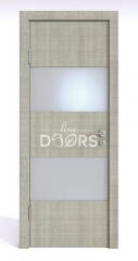 ШИ дверь DO-608 Серый дуб/Снег