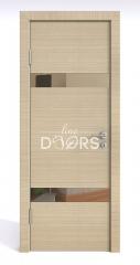 Дверь межкомнатная DO-502 Неаполь/зеркало Бронза