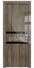 ШИ дверь DO-613 Сосна глянец/стекло Черное