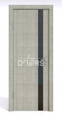 Дверь межкомнатная DO-507 Серый дуб/стекло Черное