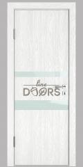 ШИ дверь DO-612 Белый глубокий/стекло Белое