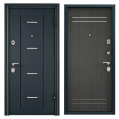 Дверь TOREX DELTA-M 10 Темно синий букле / ПВХ Каштан темный