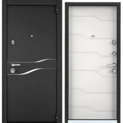 Дверь TOREX SUPER OMEGA 100 Черный муар металлик / Белый